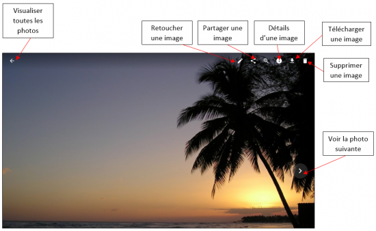 06 - Google Photos stockage gratuit et illimite de photos en ligne - Visualiser une photo