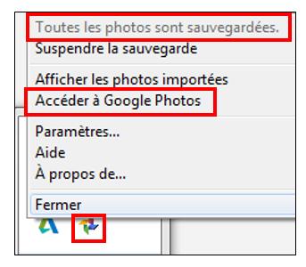12 - Google Photos stockage gratuit et illimite de photos en ligne - Parametrer le transfert de photos
