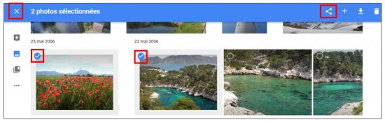 18 - Google Photos stockage gratuit et illimite de photos en ligne - Selectionner des photos