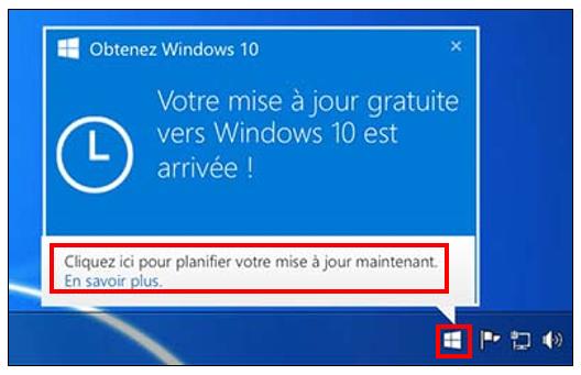 installer manuellement l'application de mise à niveau Windows 10