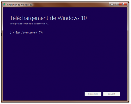 Créer un support d'installation Windows 10 - Téléchargement de Windows 10