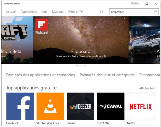 Les principales nouveautés de Windows 10 - Windows Store