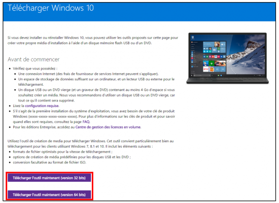 FAQ Windows 10 - Telecharger Windows 10 avec l utilitaire creation de media