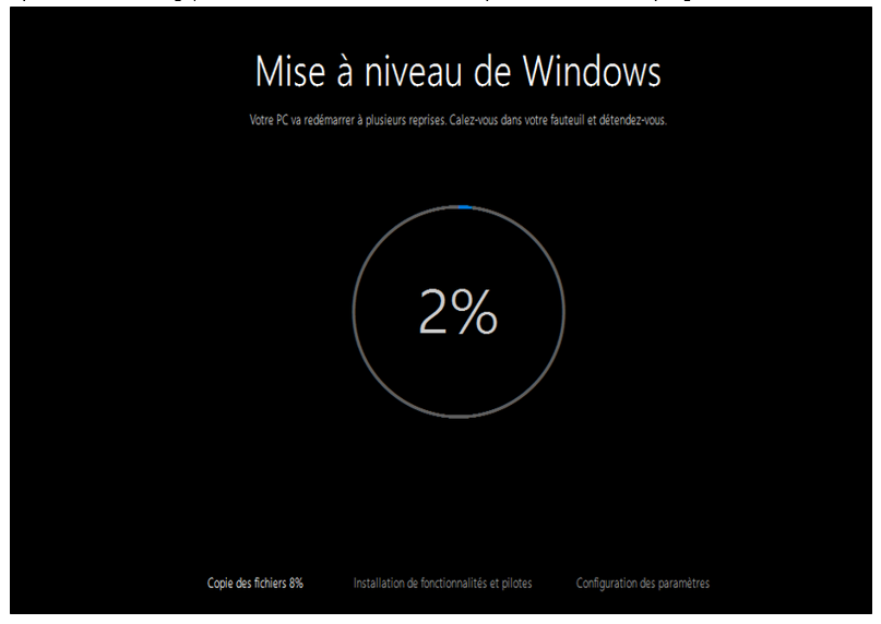 Fin de mise à jour windows 7
