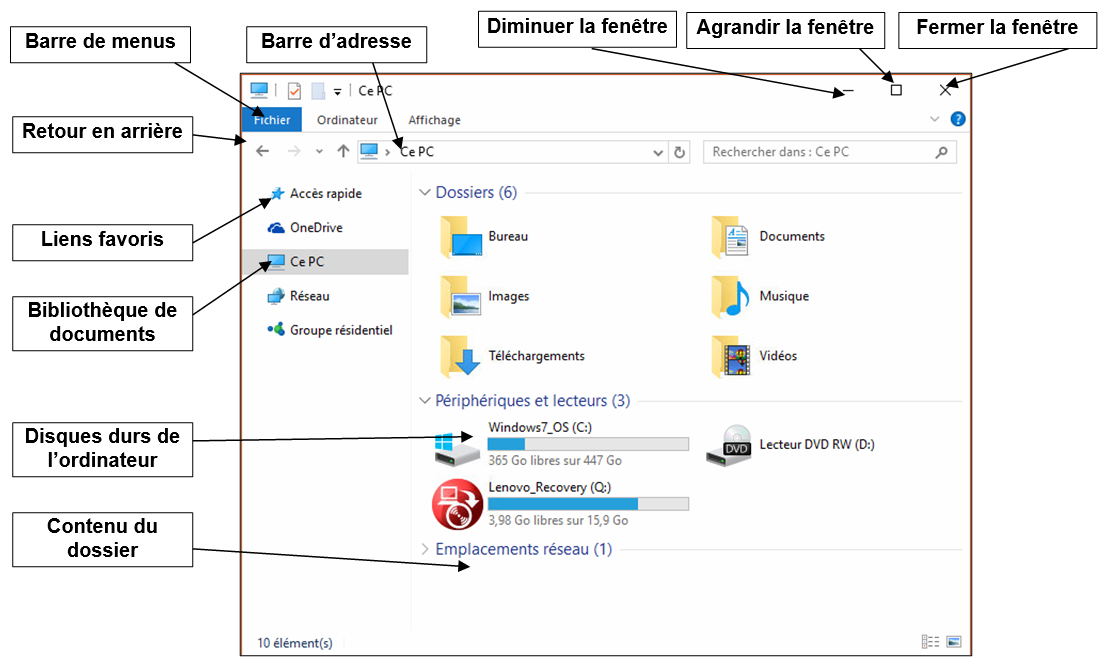 D couverte de l ordinateur avec windows 10 partie 1 je for Fenetre windows