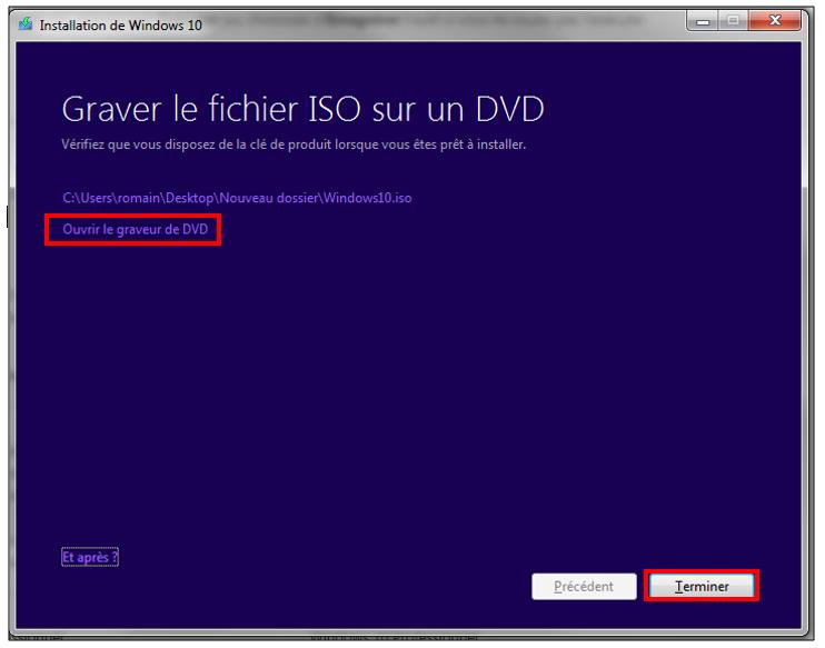 créer windows 7 iso fichier d'image windows installer