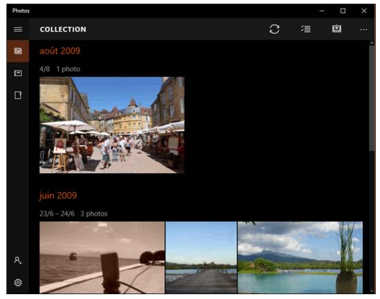 L'application Microsoft Photos