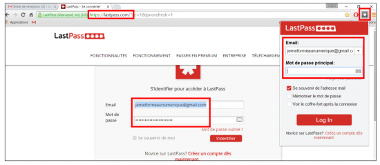 S'identifier sur LastPass
