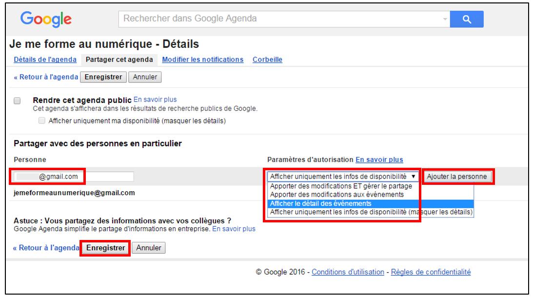 Partager Calendrier Gmail.Partager Son Agenda Google Avec Des Amis Je Me Forme Au