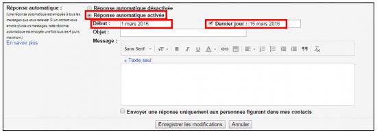 03 - Créer un message automatique en cas d'absence avec Gmail - Activer le répondeur automatique