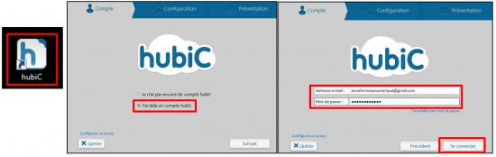 03 - Sauvegarder ses données avec Hubic - Paramétrer l'application Hubic