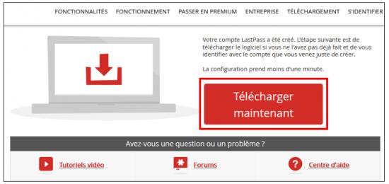 Télécharger l'extension LastPass