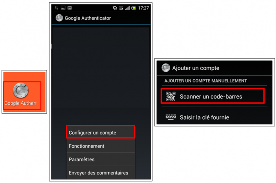 Liaison entre Google Authenticator et LastPass