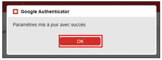 Notification de la liaison Google Authenticator et LastPass