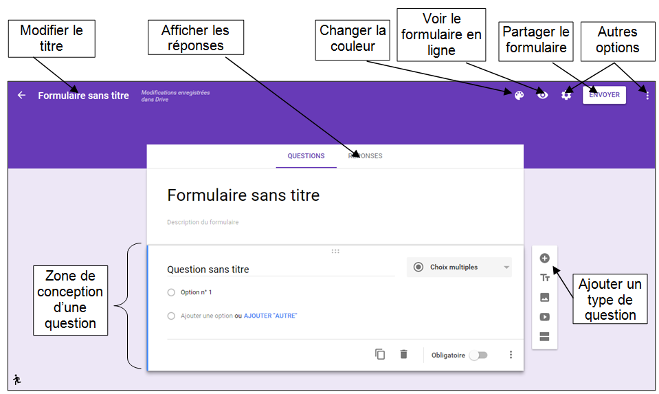 cr u00e9er des formulaires google avec la nouvelle interface