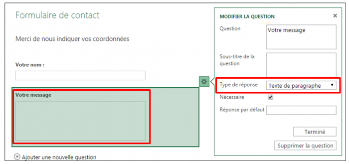 Question de type paragraphe
