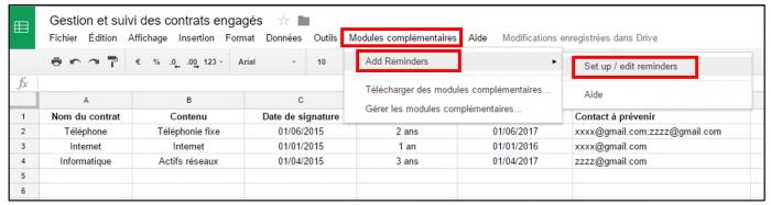 Paramétrer le module