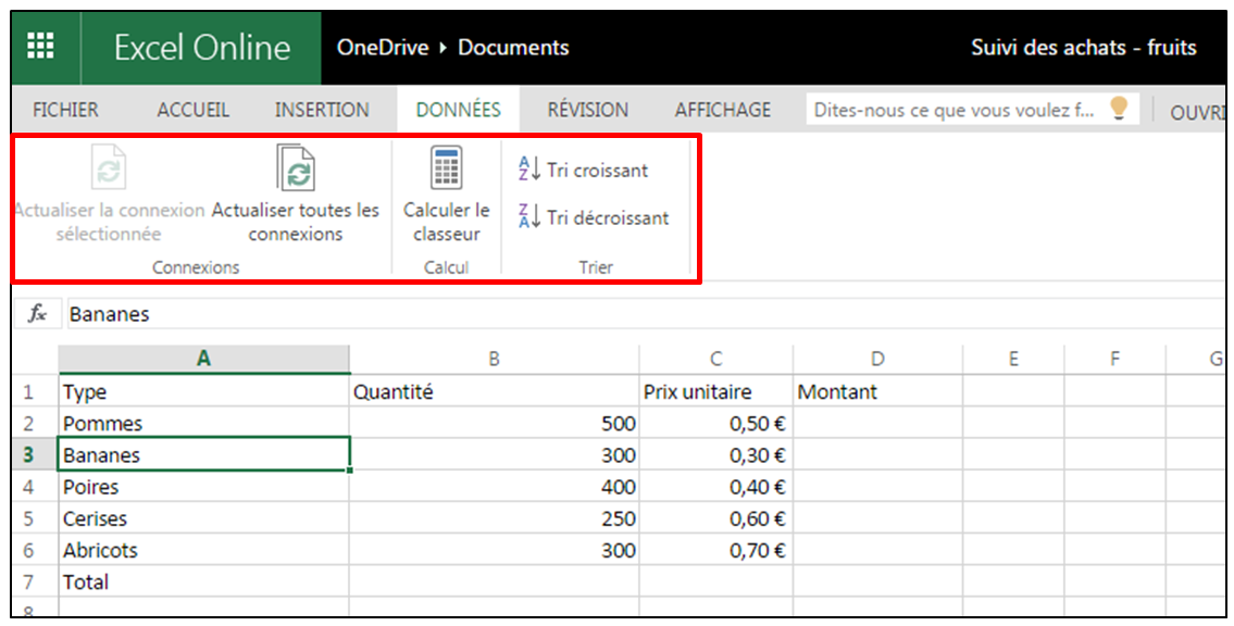 fonction incorporer excel