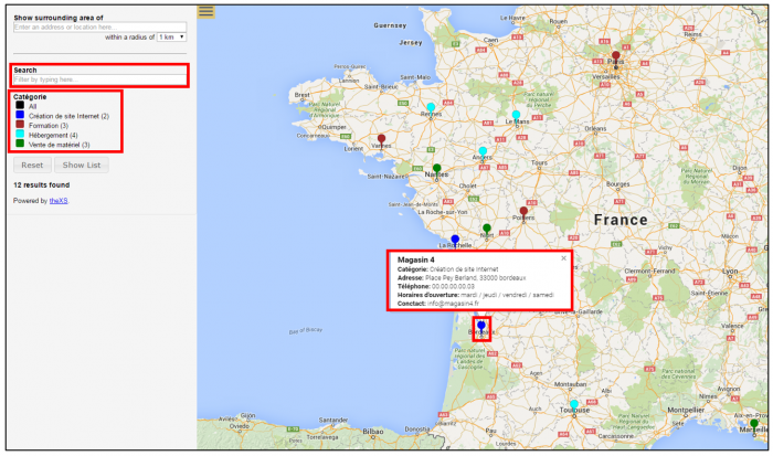 Visualiser la carte sur Google Map