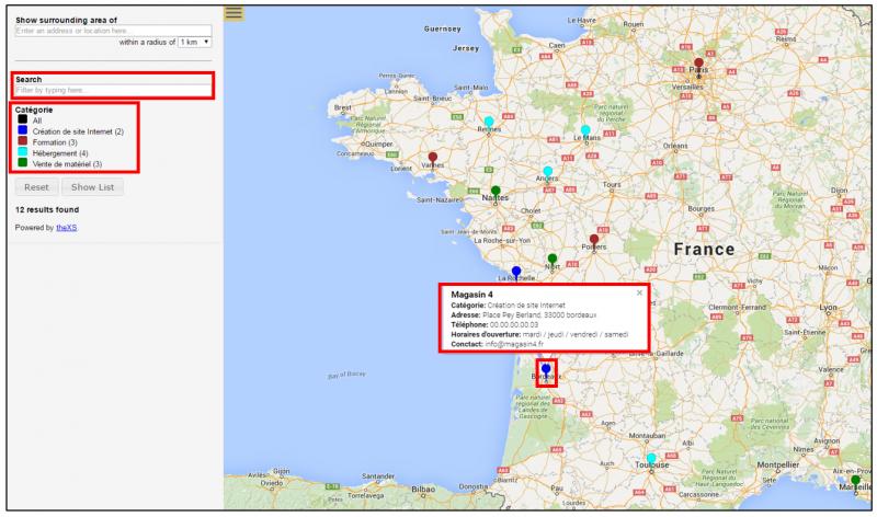 cr er une carte google map avec le tableur google sheets et le module compl mentaire mapping. Black Bedroom Furniture Sets. Home Design Ideas