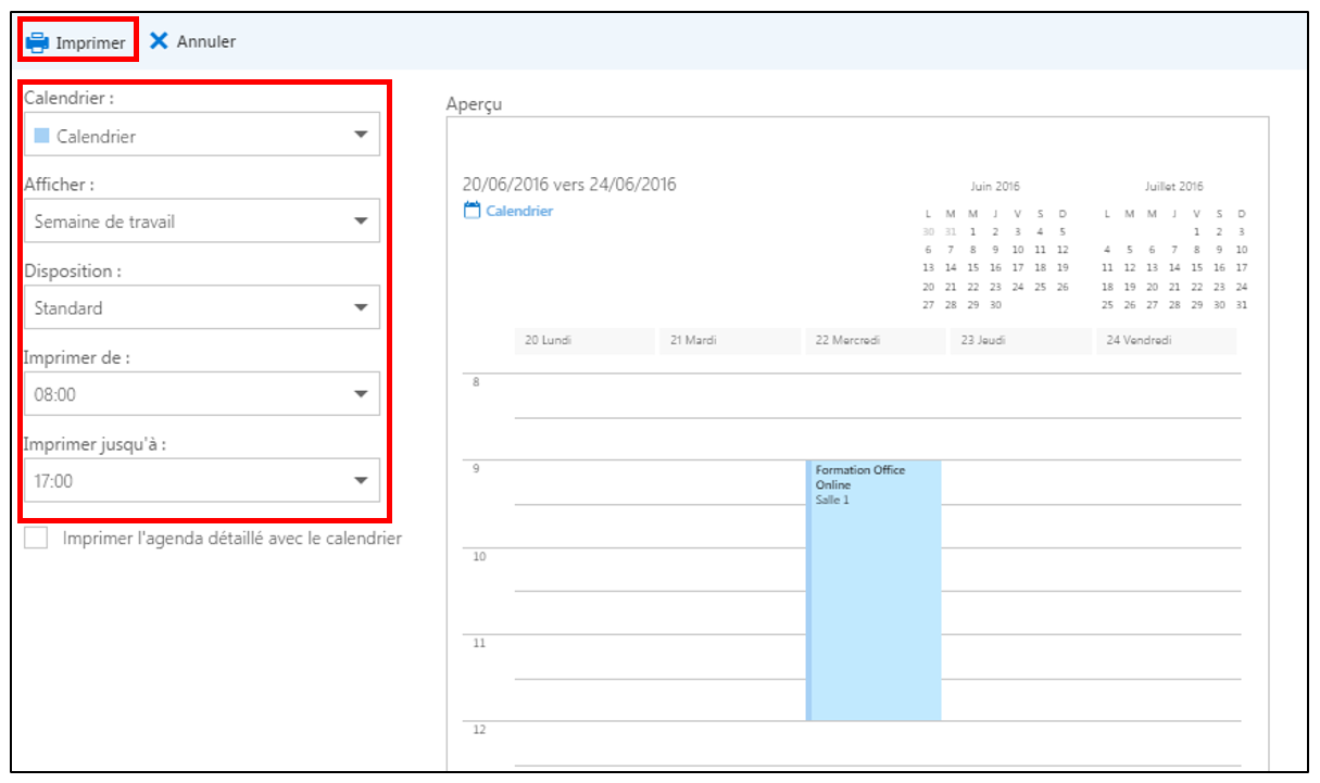 g rer son agenda avec le calendrier outlook d office