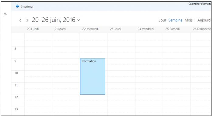 Publier un calendrier sur Internet