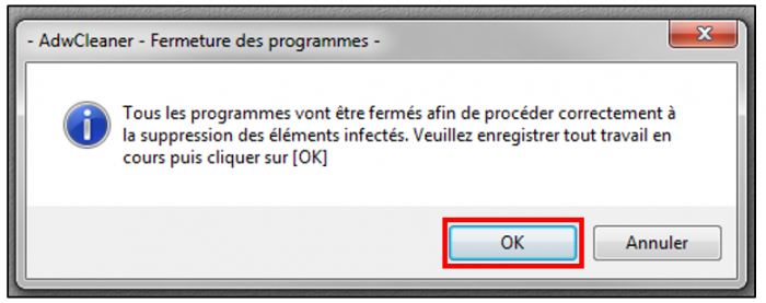 Fermer les logiciels