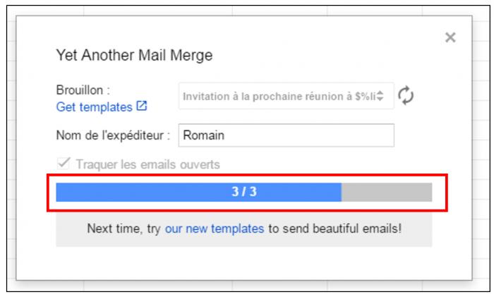 Envoi des mails personnalisés