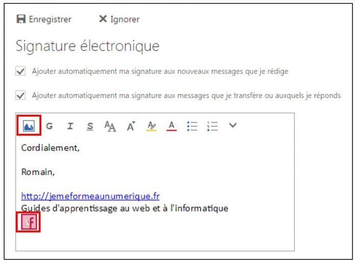 Ajouter une image à la signature électronique