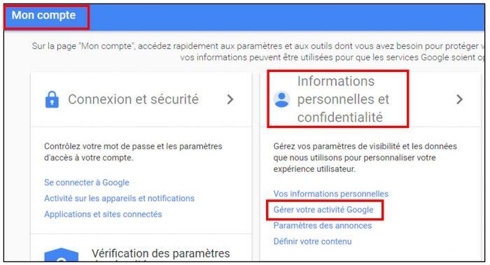 Désactiver l'historique de positions Google