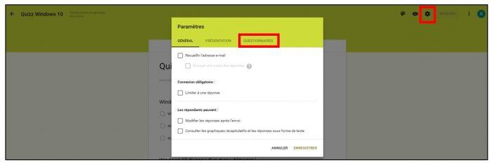 Convertir un formulaire en questionnaire