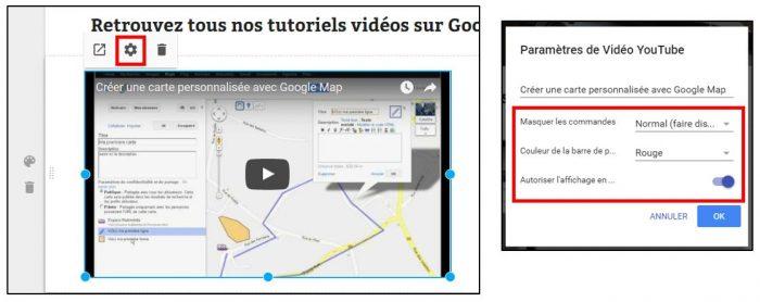 Modifier l'affichage d'une vidéo Youtube