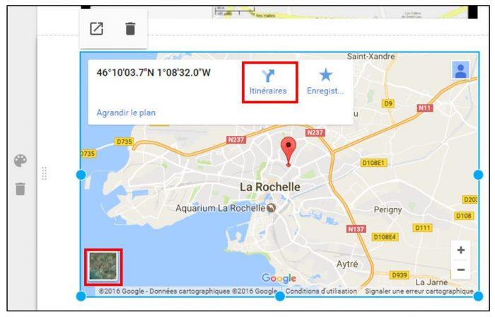 Affichage d'une carte Google Maps