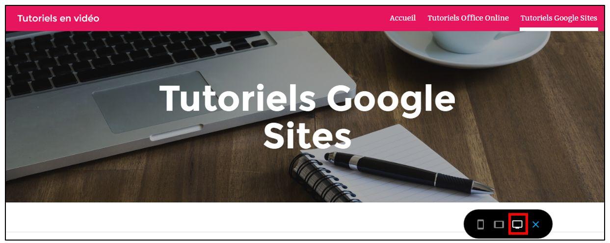 15 creer un site internet avec google sites for Ouvrir fenetre plein ecran