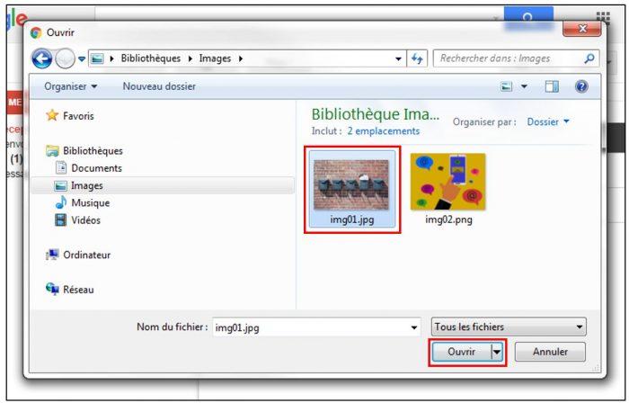 Sélectionner un fichier à joindre