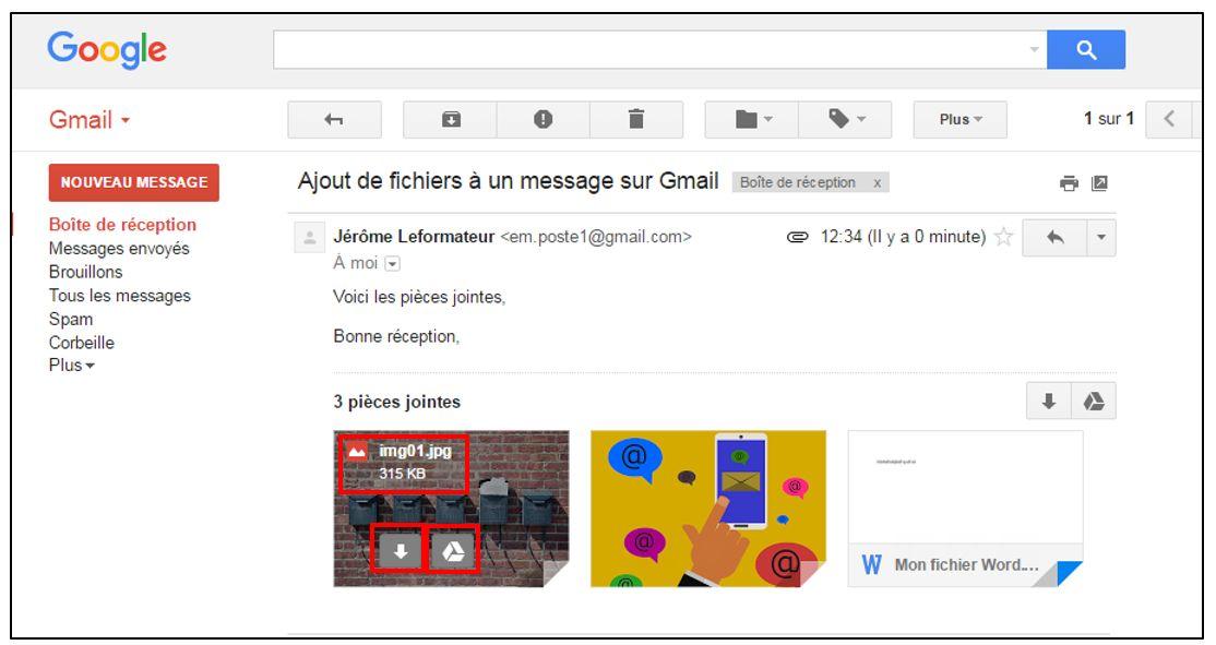 toutes les pieces jointes gmail