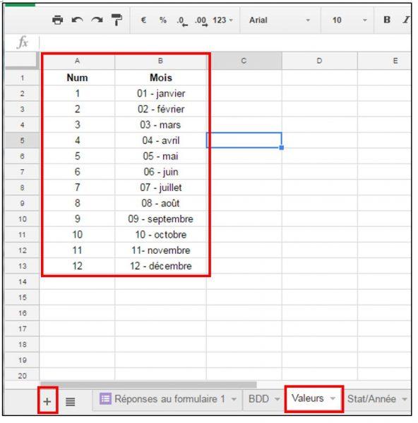 Ajouter des données pour utiliser la fonction RECHERCHEV