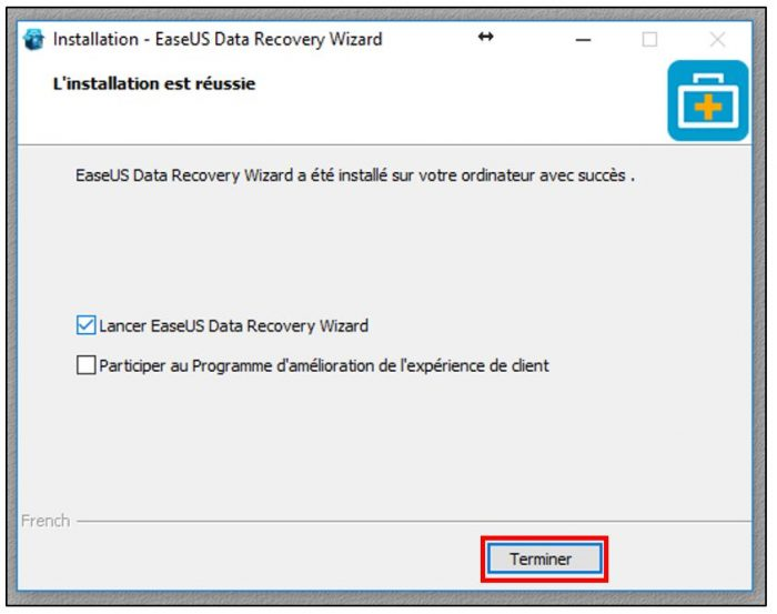 Installer EaseUS Data Recovery