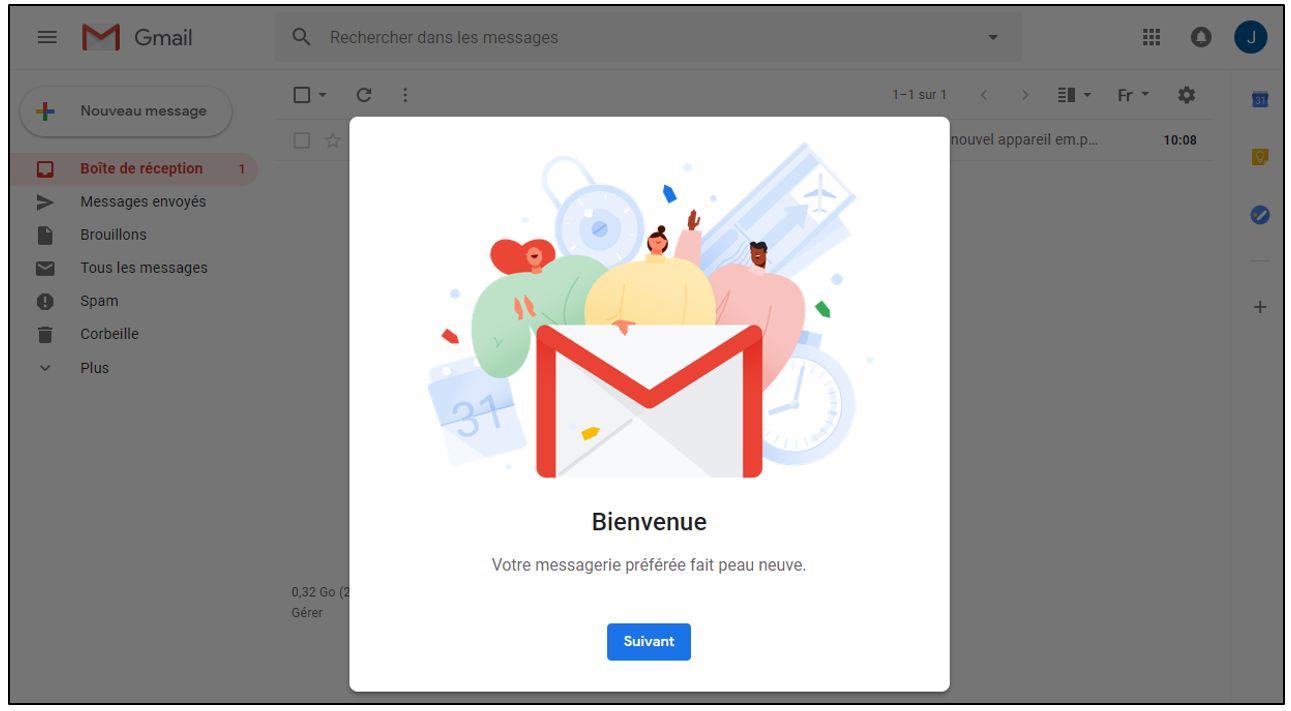 Utiliser la nouvelle interface gmail nouveau design 1 3 je me forme au num rique - Open office nouvelle version ...