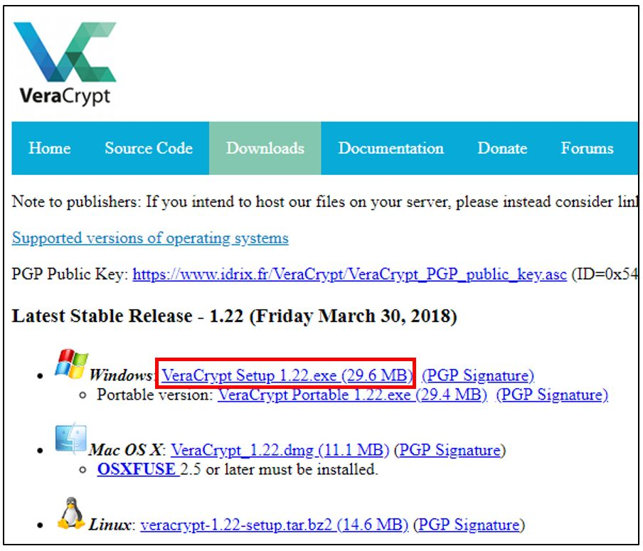 GRATUIT WINDOWS 7 TÉLÉCHARGER VERACRYPT