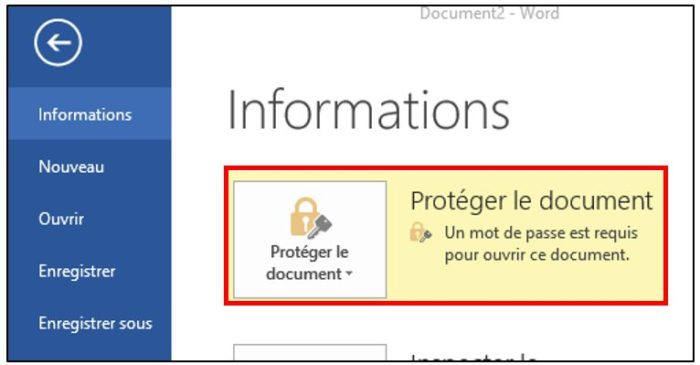 information de protection