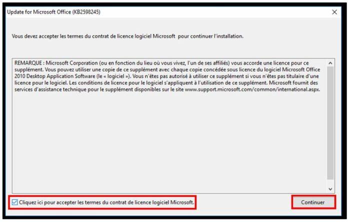 Installer le patch de compatibilité Windows 10