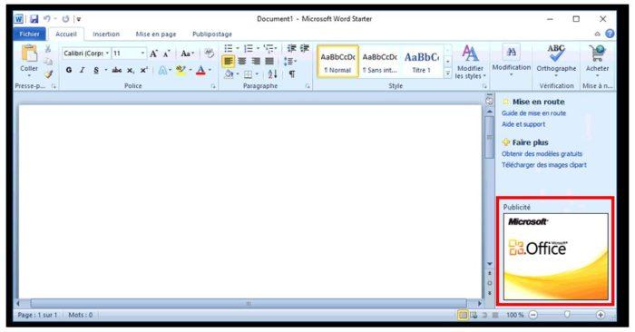 Interface de Microsoft Word