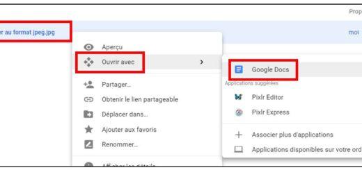 convertir une image avec Google Doc