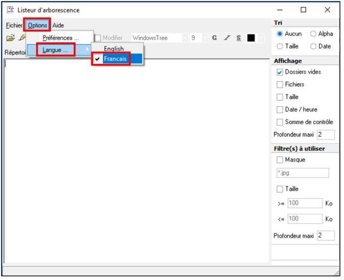 Paramétrer le logiciel