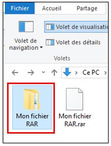 Afficher un fichier RAR décompressé