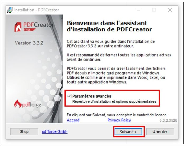 Installer PDF Creator