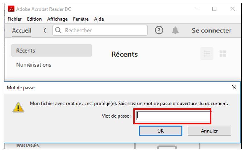 Protéger un document PDF avec un mot de passe - Je me forme au numérique