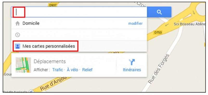creer une carte personnalisee avec Google Map - ouvrir une carte personnalisee