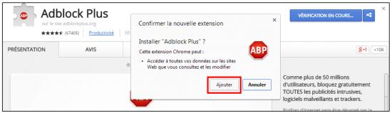 Installer l'application sur Chrome
